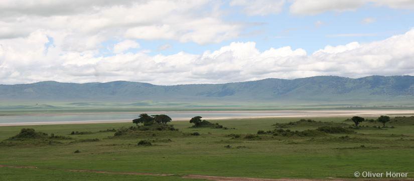 Le Cratère du Ngorongoro pendant la saison des pluies