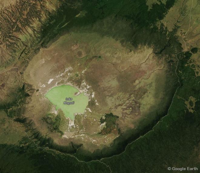 Image satellite du Cratère du Ngorongoro