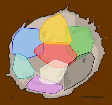 Carte avec les territoires des clans
